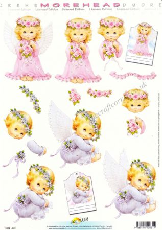 Morehead Angels 3D Decoupage Sheet